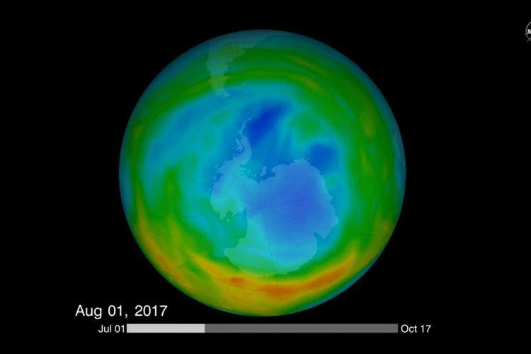 Grafik lubang ozon