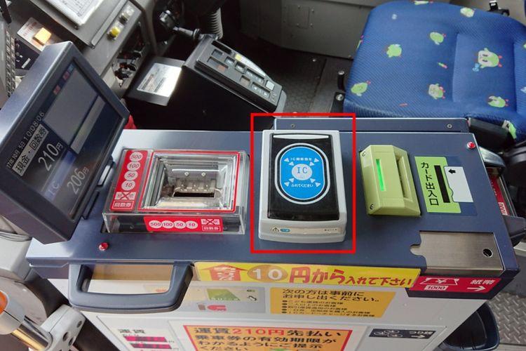 Jika Anda menggunakan kartu Suica atau kartu IC lainnya, perhatikan bagian yang ditandai ini