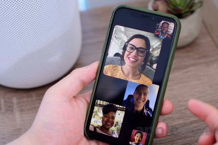 Aplikasi video call FaceTime buatan Apple.