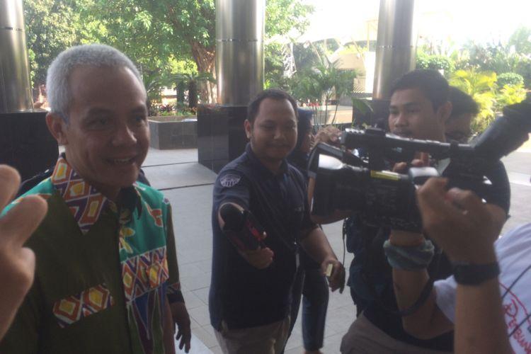 Gubernur Jawa Tengah Ganjar Pranowo memenuhi Panggilan Komisi Pemberantasan Korupsi (KPK), Kamis, 28/6/2018