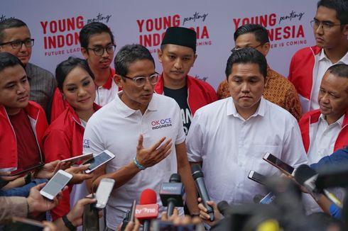 Di Depan Erick Thohir, Sandiaga Mengaku Terhormat Jadi Oposisi