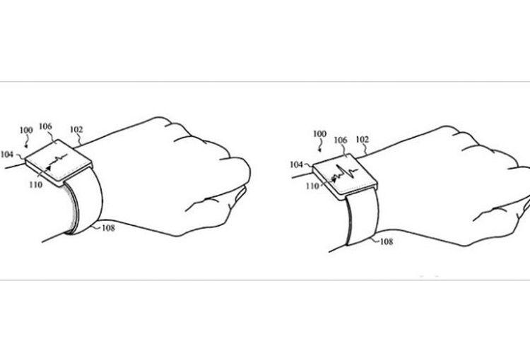 paten Apple yang memungkinkan band pada Apple Watch otomatis melonggarkan atau mengencangkan lilitan.