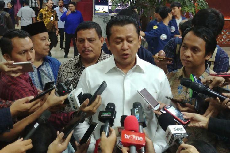 Ketua DPR Bambang Soesatyo di Komplek Parlemen, Senayan, Jakarta (19/3/2018).