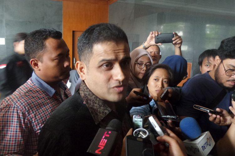 Muhammad Nazaruddin bersaksi dalam sidang kasus korupsi pengadaan e-KTP di Pengadilan Tipikor Jakarta, Senin (20/11/2017).