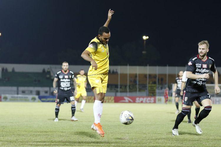 Laga pekan kedelapan Liga 1 2019 antara Barito Putera vs Bali United, 14 Juli 2019.
