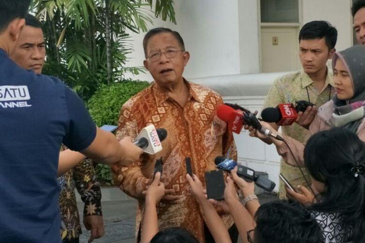 Menteri Koordinator bidang Perekonomian Darmin Nasution di Istana Kepresidenan, Jakarta, Jumat (3/8/2018).