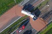 Akibat Truk Terguling, Cokelat Cair Banjiri Jalan Raya di Polandia
