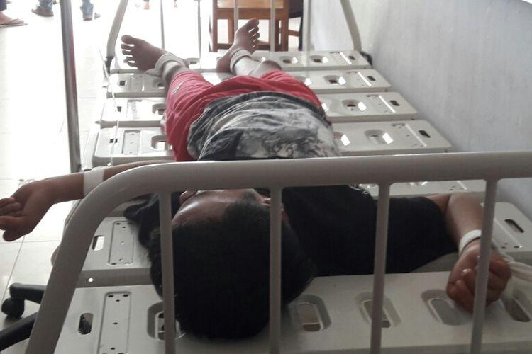 Salah satu pasien yang dirawat di RSJ Kendari setelah mengkonsumsi obat-obatan yang diduga narkoba.