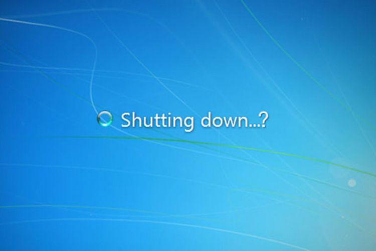 Ilustrasi Shutting Down Windows