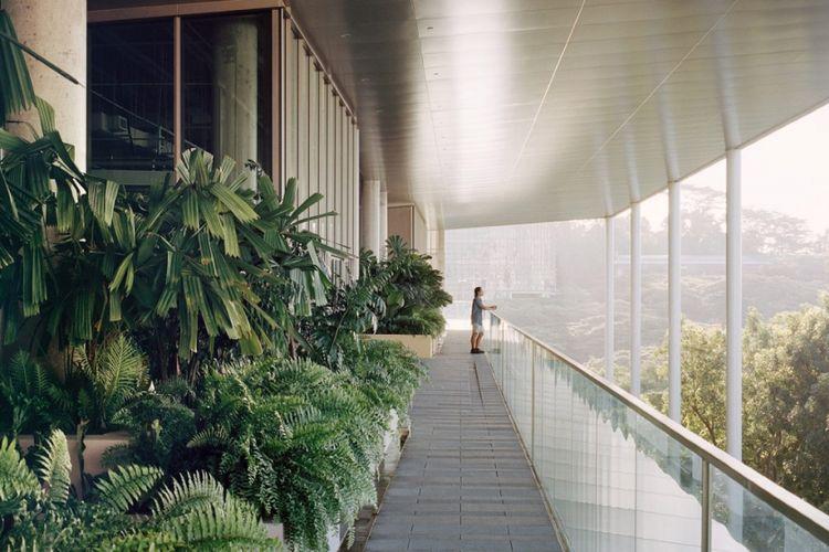 Desain kampus School of Design and Environment 4 (SDE4) National University of Singapore.