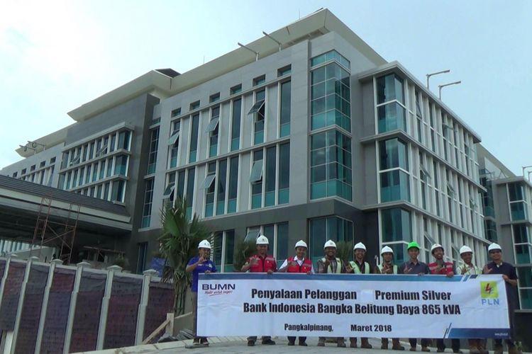 Gedung PT Bank Indonesia yang baru dibangun di Pangkal Pinang, Kepulauang Bangka Belitung.