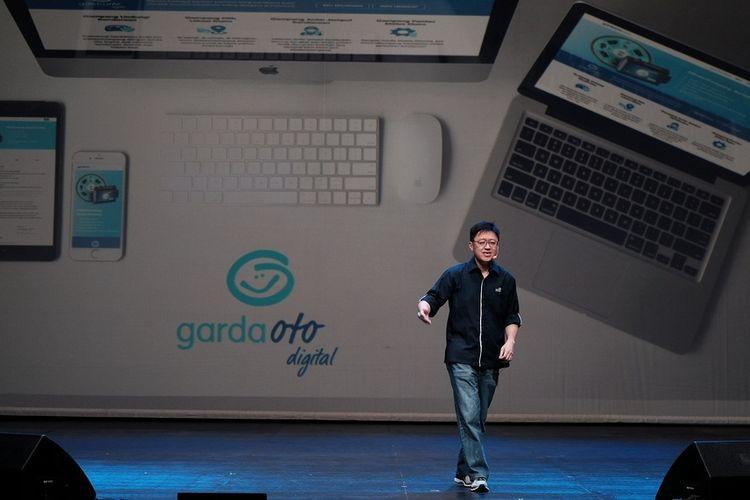 Rudy Chen, CEO Asuransi Astra pada Selasa (10/10/2017) menjelaskan mengenai Garda Oto Digital yang bisa diakses melalui berbagai piranti digital.