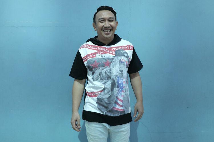 Augie Fantinus saat ditemui usai tampil di salah satu acara stasiun televisi swasta di kawasan Mampang, Jakarta Selatan, Jumat (15/3/2019).