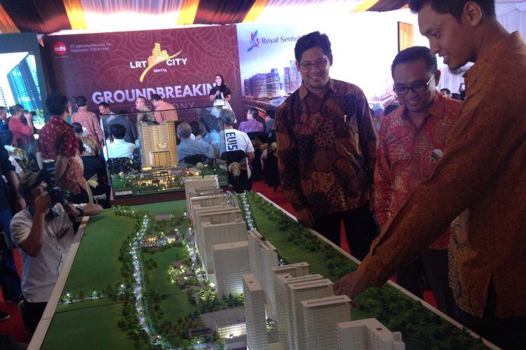 Maket pembangunan LRT City-Royal Sentul Park.