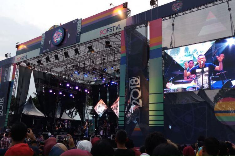 Kidnap Katrina tampil dalam 90s Festival 2018 di Gambir Expo, Jakarta Pusat, Sabtu (10/11/2018) sore.