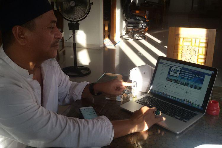 Andre Effendi saat membuka akun Masyarakat Anti Ponzi (MAP) di Pangkal Pinang.