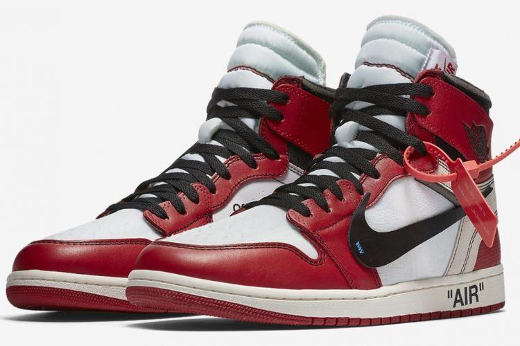 11538be9e9a8 Jordan 1 Off-White Chicago Terjual Rp 50 Juta di Jakarta Sneaker Day ...