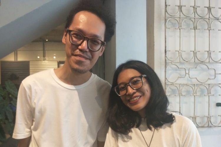 Endah N Rhesa ditemui dalam sebuah kegiatan di kawasan Kemang, Jakarta Selatan, Rabu (6/2/2019).