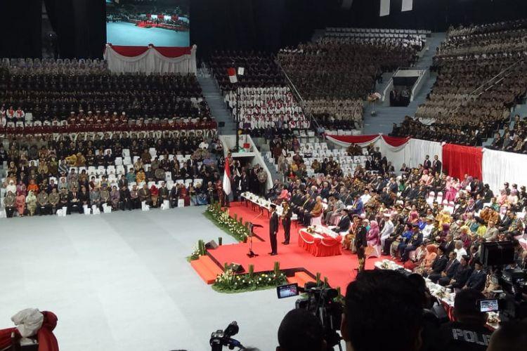 Presiden Joko Widodo menjadi inspektur upacara HUT Bhayangkara ke-72, Rabu (11/7/2018).