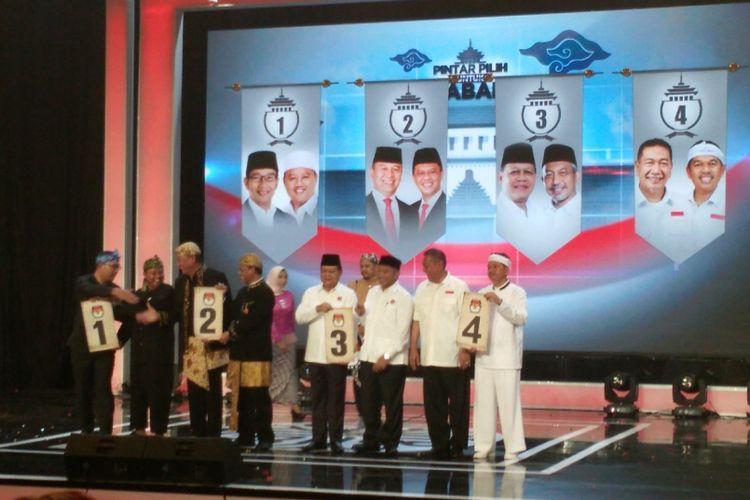 Peserta Pilkada Jawa Barat 2018.