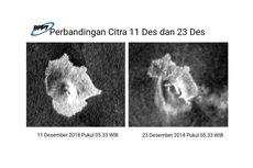 Citra Radar BPPT Ungkap Bagian Selatan Anak Krakatau Longsor