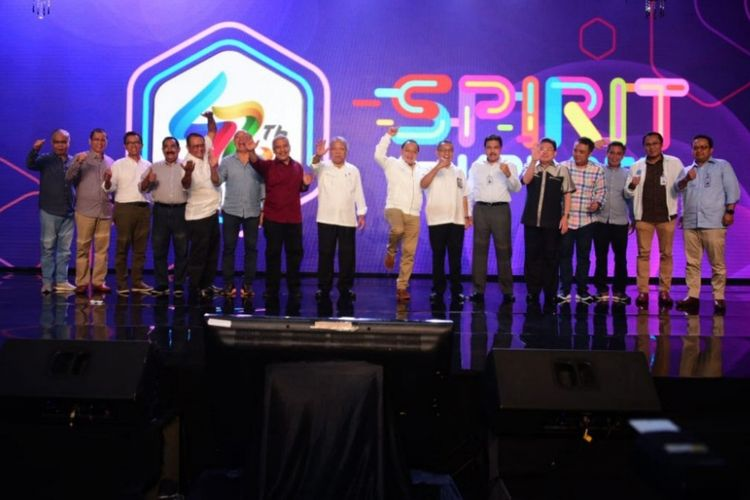Acara ulang tahun ke-42 Bank Tabungan Negara (BTN) yang bertema ?Spirit of KPR BTN - Growing with Millenials? di Jakarta, Senin (10/12/2018).