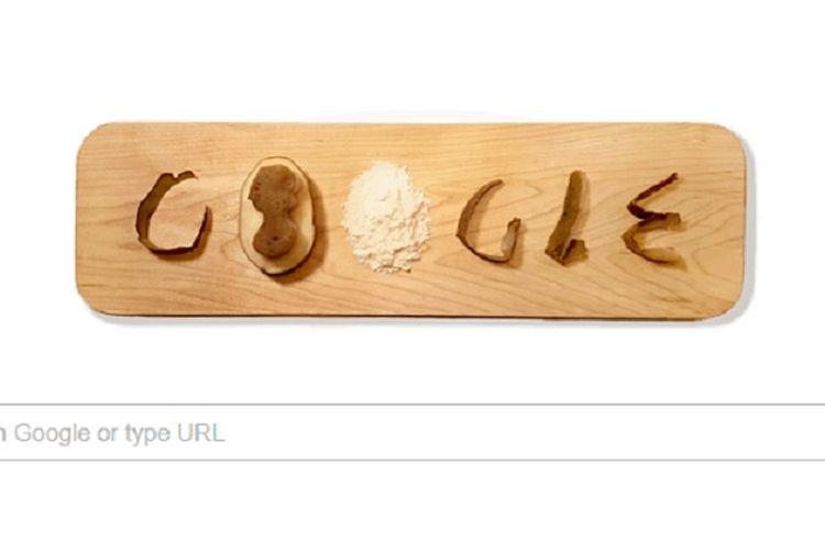 Google doodle bergambar potongan kentang.