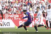 Sevilla Vs Barcelona, Hattrick Lionel Messi Menangkan El Barca
