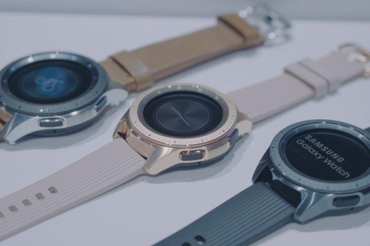 Arloji pintar Galaxy Watch turut diperkenalkan pada ajang Galaxy Unpacked, Kamis (9/8/2019), di New York, Amerika Serikat.