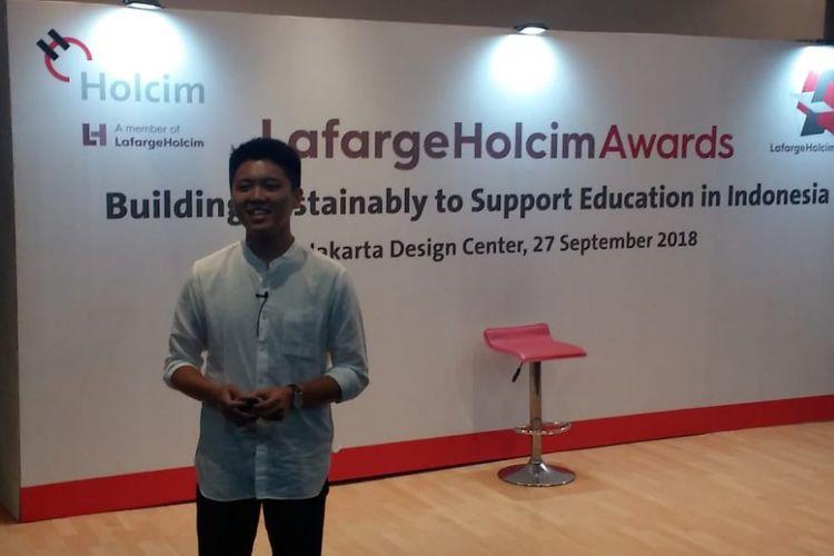 Andi Subagio dari biro arsitektur SASO Architects, Jakarta.