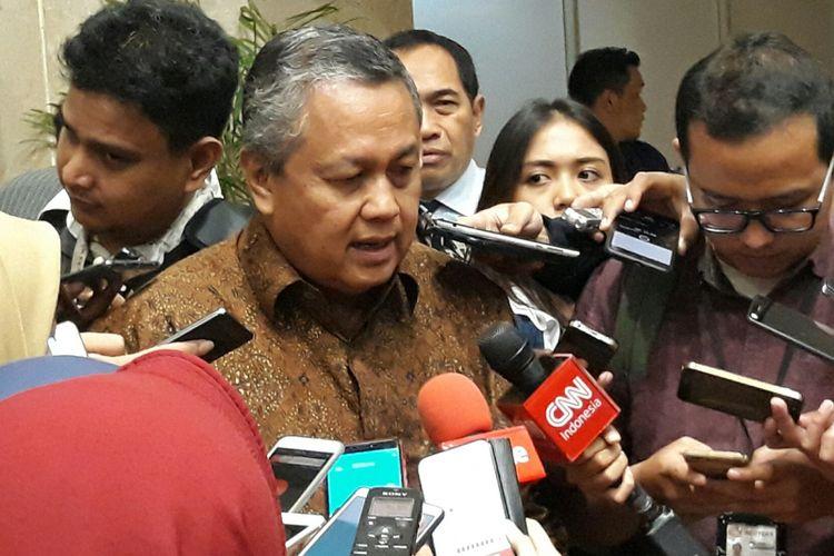 Perry Warjiyo usai fit and proper test di hadapan Komisi XI DPR RI, Rabu (28/3/2018).