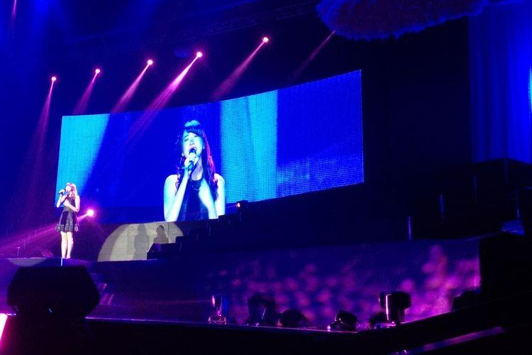 Shania Junianatha tampil di panggung terakhirnya bersama JKT48 dalam pergelaran Shania JKT48 Graduation Ceremony atau konser kelulusannya dari JKT48 di Balai Sarbini, Plaza Semanggi, Jakarta Pusat, Sabtu (27/4/2019).