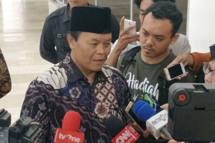 Wakil Ketua Majelis Syuro Partai Keadilan Sejahtera (PKS) Hidayat Nur Wahid di Kompleks Parlemen, Senayan, Jakarta, Selasa (18/12/2018).