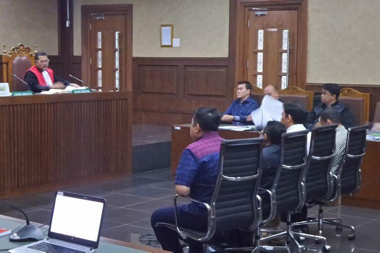 Persidangan kasus korupsi pengadaan e-KTP dengan terdakwa Andi Agustinus alias Andi Narogong di Pengadilan Tipikor Jakarta, Jumat (29/9/2017).
