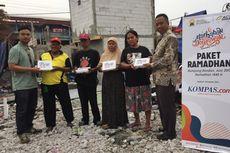 Kompas.com dan ACT #BerbagiCeria dengan Korban Kebakaran Kampung Bandan