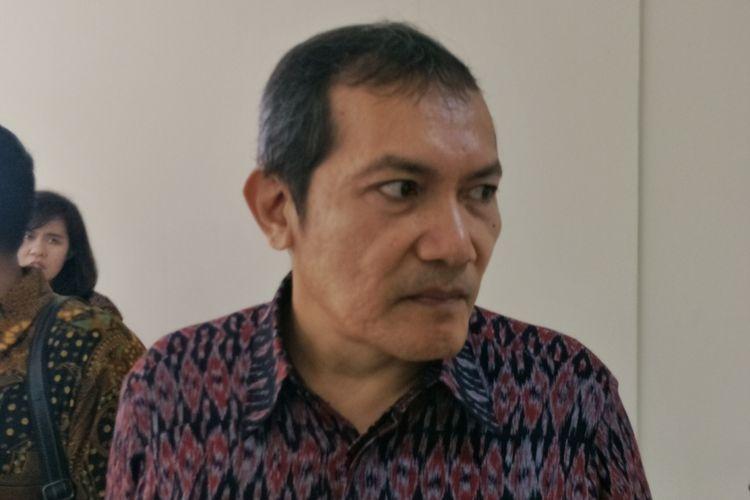 Wakil Ketua Komisi Pemberantasan Korupsi (KPK) Saut Situmorang saat ditemui di Pusdiklat PPATK, Tapos, Depok, Kamis (30/11/2017).