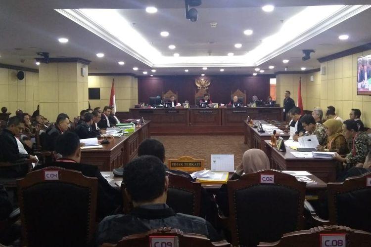 Sidang Sengketa Hasil Pileg di Mahkamah Konstitusi (MK), Jakarta Pusat, Rabu (10/7/2019).