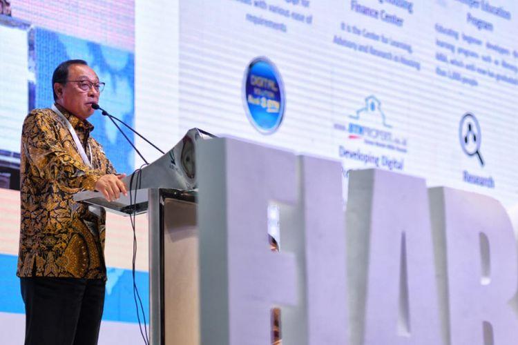 Direktur Utama BTN Maryono pada acara Global Business Summit yang diselenggarakan Asosiasi Real Estate Sedunia (FIABCI) di Nusa Dua, Bali, Kamis (6/12/2018).