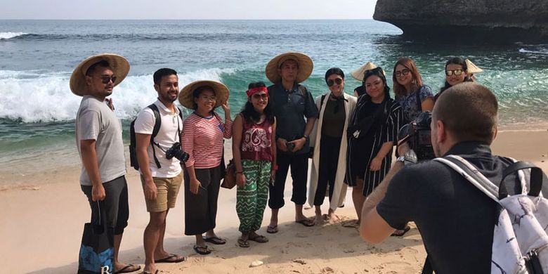 Pantai Balangan di Desa Ungasan, Kecamatan Kuta Selatan, Kabupaten Badung, Bali, Selasa (5/6/2018).
