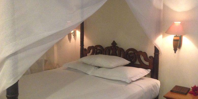 Kamar antik di Hotel Kresna, Wonosobo, Jawa Tengah. Kamar bergaya klasik menjadi favorit wisatawan mancanegara.