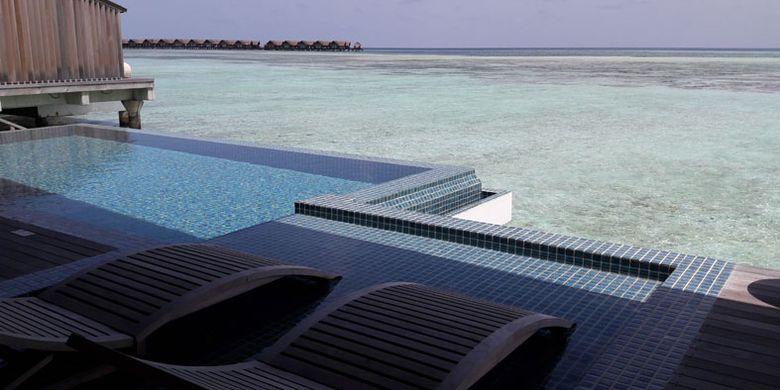 Club Med Finolhu Villas di Maladewa, Minggu (16/7/2017).