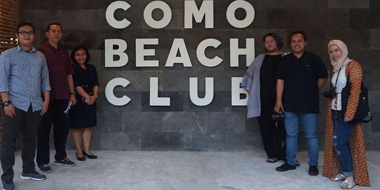 Como Beach Club di Como Uma Canggu, Jalan Pantai Batu Mejan, Canggu, Kabupaten Badung, Bali, Selasa (10/4/2018).