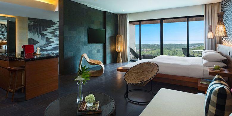 Salah satu kamar di Renaissance Bali Uluwatu Resort & Spa, Jalan Pantai Balangan, Ungasan, Bali.