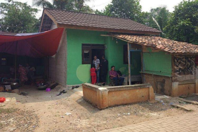 Rumah Lastri, penerima bantuan dari Habitat for Humanity Indonesia dan Intiland, di Kampung Pekong, Desa Saga, Kecamatan Balaraja, Kabupaten Tangerang. Gambar diambil Sabtu, (5/8/2017).