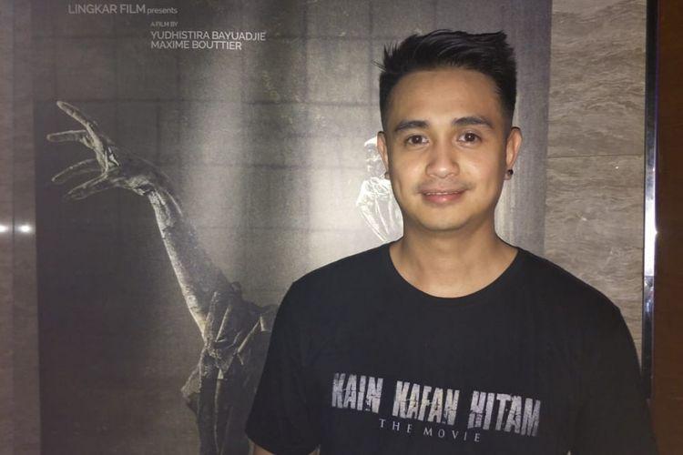 Ajun Perwira ditemui usai press screening film Kain Kafan Hitam di Epicentrum XXI, Kuningan, Jakarta Selatan, Senin (11/1/2019).
