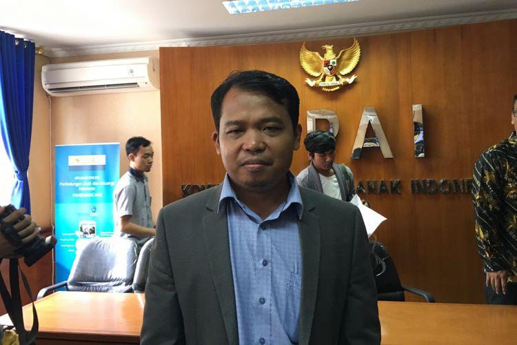Ketua Komisi Perlindungan Anak Indonesia (KPAI) Susanto saat ditemui di Kantor KPAI, Jakarta Pusat, Senin (11/9/2017).