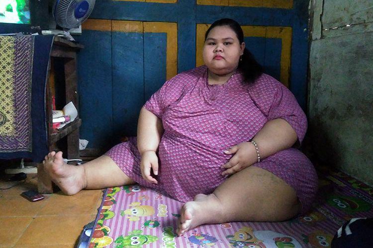 Silvia Dwi Susanti, memiliki bobot mencapai 179,3 kilogram
