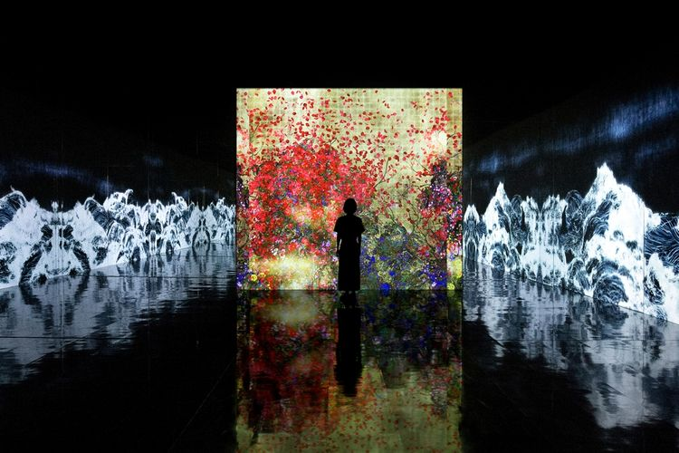 teamLab: Impermanent Flowers Floating in a Continuous Sea