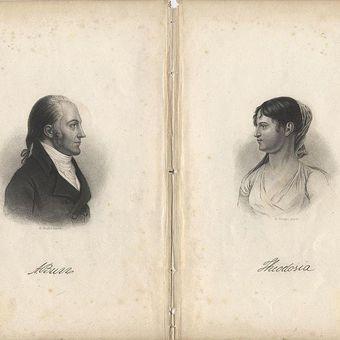 Aaron Burr dan putrinya, Theodosia. (Wikipedia)