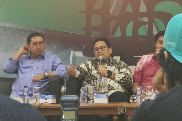 Komisioner Badan Pengawas Pemilihan Umum (Bawaslu) Rahmat Bagja dalam sebuah diskusi di media center, Kompleks Parlemen, Senayan, Jakarta, Kamis (21/2/2019). (KOMPAS.com/KRISTIAN ERDIANTO)